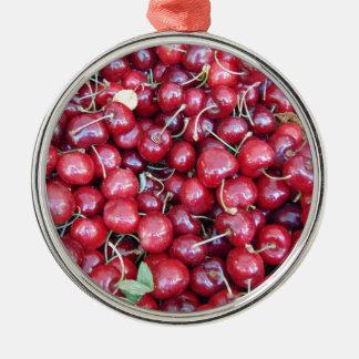 Kirschen Silbernes Ornament