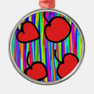 Kirschfarbart Silbernes Ornament
