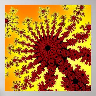 KirschFeuerwerks-Explosions-Plakat Poster