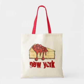 Kirschkäsekuchen-Scheibe-Tasche New York City NYC Tragetasche