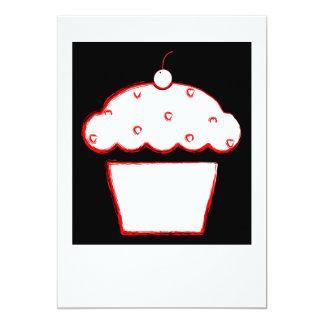 Kirschkleiner kuchen 12,7 x 17,8 cm einladungskarte