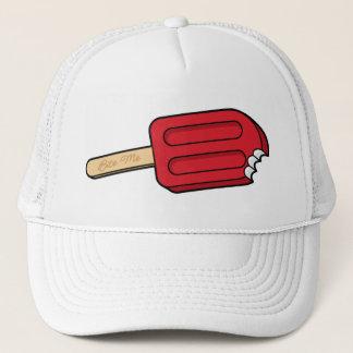 KirschPopsicle beißen mich Hut (Weiß Truckerkappe