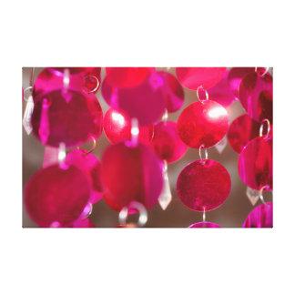 Kirschrosa hängende Disc Leinwanddruck