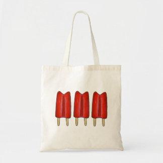 Kirschrot-Zwillings-Poppopsicles-Eis-Lutschbonbons Tragetasche