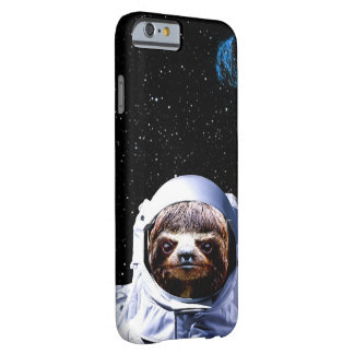 Kirschsloth-Astronauten-Hipster-Raum Barely There iPhone 6 Hülle
