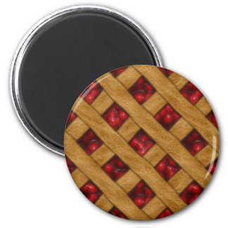 Kirschtorte, rote Kirschen, Nachtisch, Torte, Runder Magnet 5,1 Cm