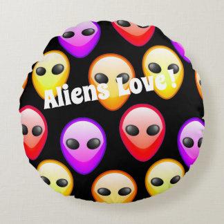 Kissen-Abdeckung Farbe der Außerirdische-Liebe Rundes Kissen