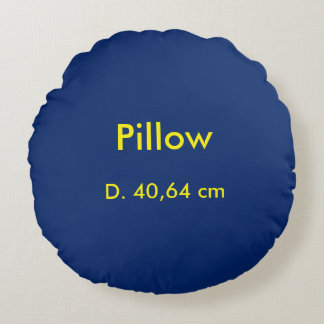 Kissen-Baumwollrundes uni Blau Rundes Kissen