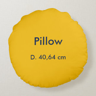 Kissen-Baumwollrundes uni Gelb Rundes Kissen
