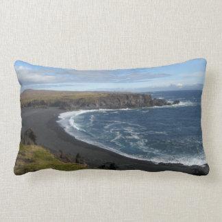 Kissen/Kissen mit Bild des vulkanischen Strandes Lendenkissen