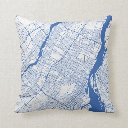 Kissen Montreal Urban Pattern BLUE