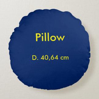 Kissen-Polyester-rundes uni Blau Rundes Kissen