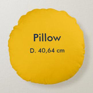 Kissen-Polyester-rundes uni Gelb Rundes Kissen