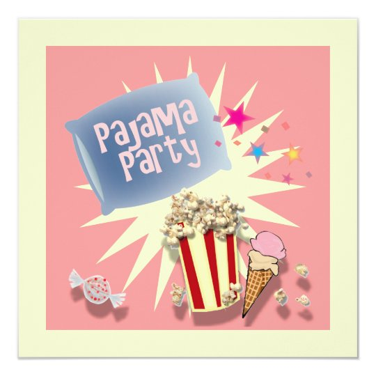 kissen schlummersleepover pyjama party einladung zazzle. Black Bedroom Furniture Sets. Home Design Ideas