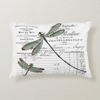 Kissen. Vintage, Retro Design. Libelle, Insekt Zierkissen