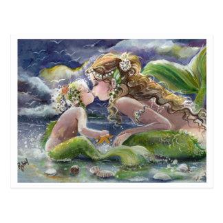 Kissy Meerjungfrau u. Kindpostkarte Postkarten