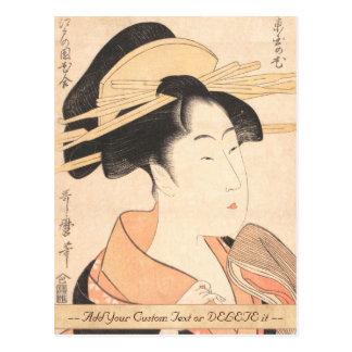 Kitagawa Utamaro Azumaya keine japanische Postkarte