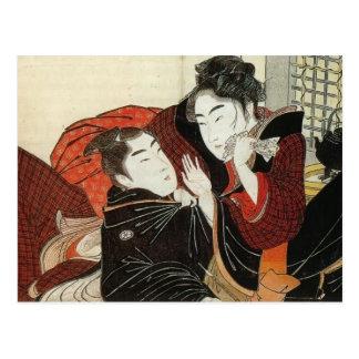 Kitagawa Utamaro: Szene 'vom Gedicht des Pillow Postkarte