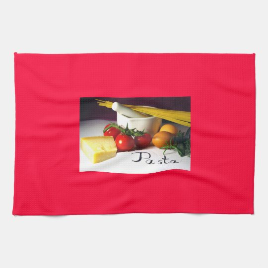 Kitchen towel in red geschirrtuch