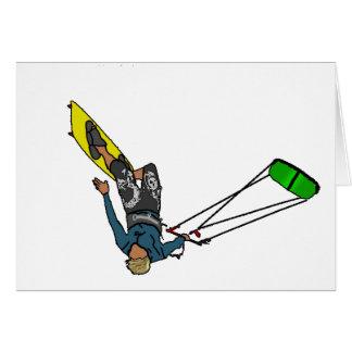 kitesurfer grußkarte