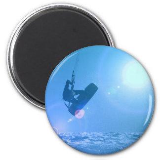 Kitesurfing Luft-Magnet Runder Magnet 5,7 Cm