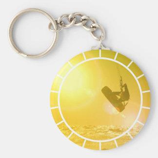 Kitesurfing Silhouette Keychain Standard Runder Schlüsselanhänger