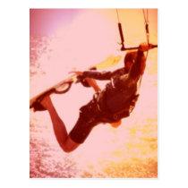 Kitesurfing Zupacken-Postkarte Postkarten