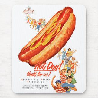 Kitsch-Vintage Hotdogs für uns! Mauspad