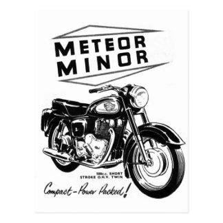 "Kitsch Vintage ""Metor geringe"" Motorrad-Radfahrer Postkarte"
