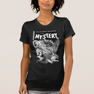 Kitsch-Vintager Comic-Buch-Herr Mystery T-Shirt