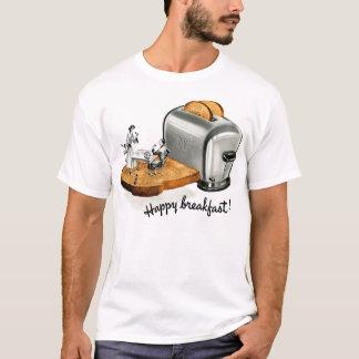 Kitsch-Vintager Frühstückstoast 'glückliches T-Shirt