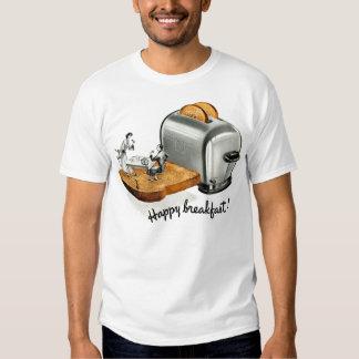 Kitsch-Vintager Frühstückstoast 'glückliches Tshirts