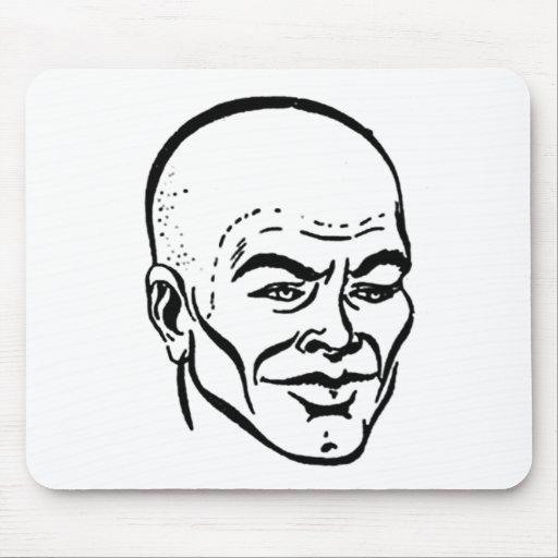 Kahler Kopf der Frisuren rasierte Kopf
