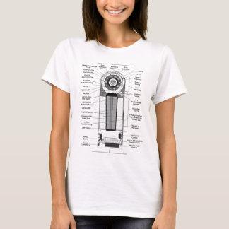 Kitsch-Vintages Diagramm machen eine Atombombe zu T-Shirt
