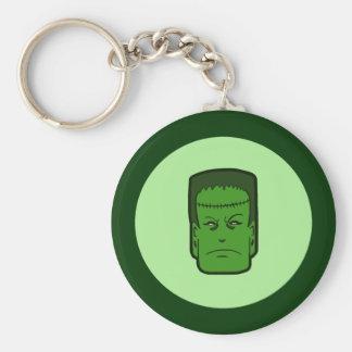 Kitschy Frankenstein Standard Runder Schlüsselanhänger