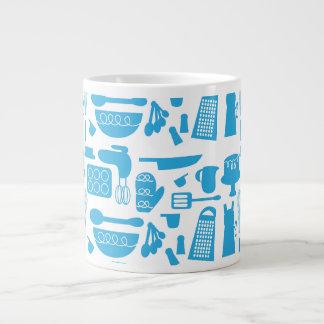 Kitschy Küchengeschirr-Muster Extragroße Tassen