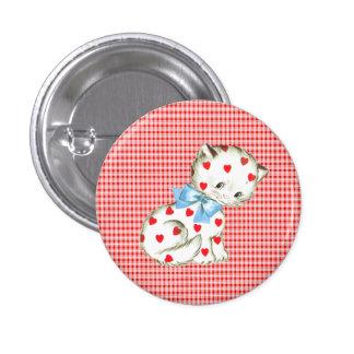 Kitschy Miezekatze Runder Button 3,2 Cm