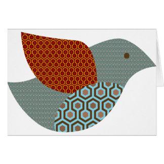 Kitschy Muster-Taube Grußkarte