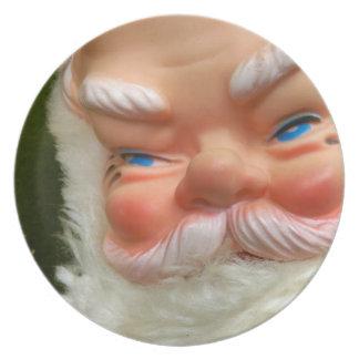 Kitschy Retro Gummi-Gesichtiger verdeckter Flacher Teller