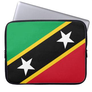 Kitts- und Nevis-Flagge Laptopschutzhülle