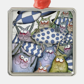 Kitty-Blues Silbernes Ornament