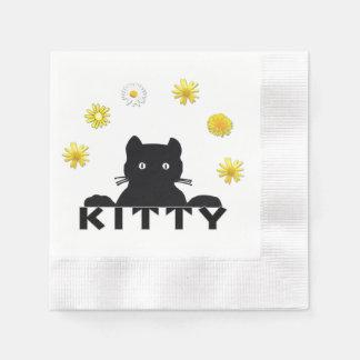 Kitty-Blumen Serviette