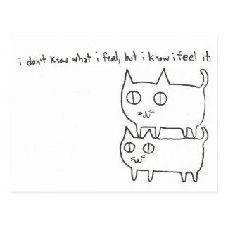 Kitty-Gefühle Postkarte