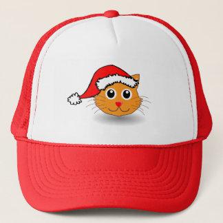 Kitty in der Weihnachtsmannmütze Truckerkappe
