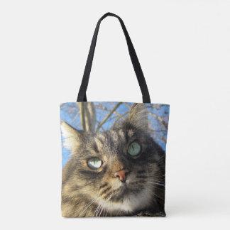 Kitty-Katzen-Gewohnheit ganz vorbei - drucken Sie Tasche
