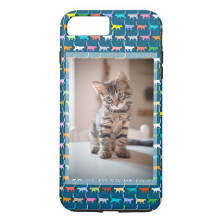 Kitty-Katzen-kundenspezifischer Foto-Katzen-Druck iPhone 8 Plus/7 Plus Hülle