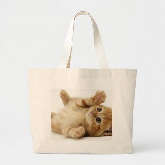 Kitty-Katzen-niedliches Einzelteil Jumbo Stoffbeutel