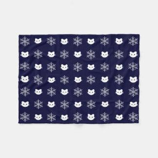 Kitty-Katzen-Schneeflocke-Polyester Fleece-Decke Fleecedecke