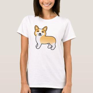 Kitz-niedlicher Cartoonpembroke-Walisercorgi-Hund T-Shirt