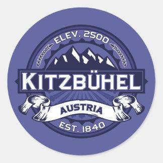 Kitzbühel Logo-Mitternacht Runder Aufkleber